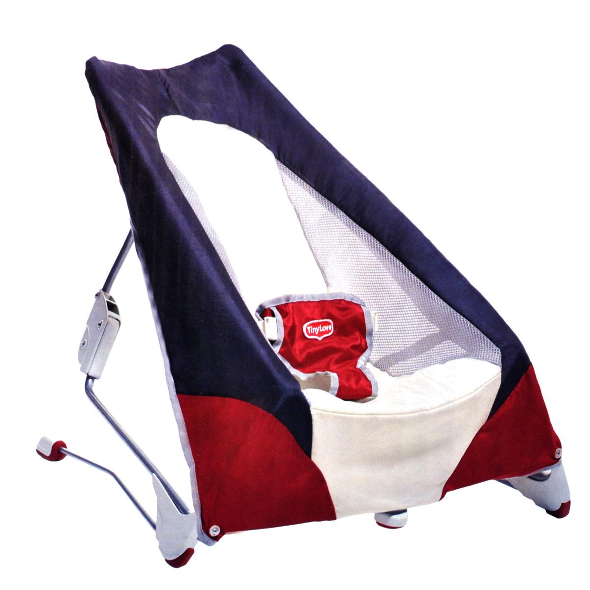 Переносной баунсер Tiny Love, цвет: синий, белый, красный1801406130Переносной баунсер Tiny Love - это удобное кресло для детей с самого рождения, которое позволит вашему малышу чувствовать себя комфортно как дома, так и в любом другом месте. Благодаря полувертикальному положению малыш сможет смотреть на мир под новым углом и общаться со взрослыми на одном уровне. Ремни безопасности не дадут ребенку упасть. Баунсер не требует сборки и легко складывается для удобной транспортировки. В таком кресле вашему малышу будет максимально комфортно и безопасно! Характеристики: Материал: металл, пластик, текстиль. Рекомендуемый возраст: от 0 месяцев. Максимальный вес ребенка: 9 кг. Размер упаковки (ДхШхВ): 59 см x 34,5 см x 11,5 см. Изготовитель: Китай.