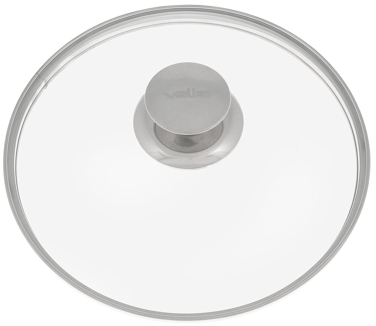 Крышка Valira, диаметр 22 см4901Крышка Valira изготовлена из жаропрочного стекла с ободом и ручкой из нержавеющей стали. Окантовка предохраняет от механических повреждений. Изделие удобно в использовании и позволяет контролировать процесс приготовления пищи. Можно мыть в посудомоечной машине.