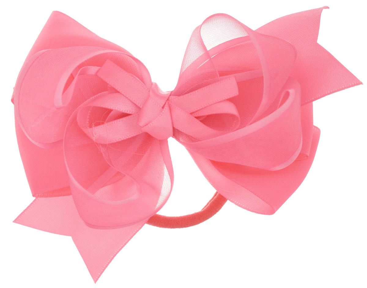 Baby's Joy Бант для волос на резинке цвет розовый MN 213