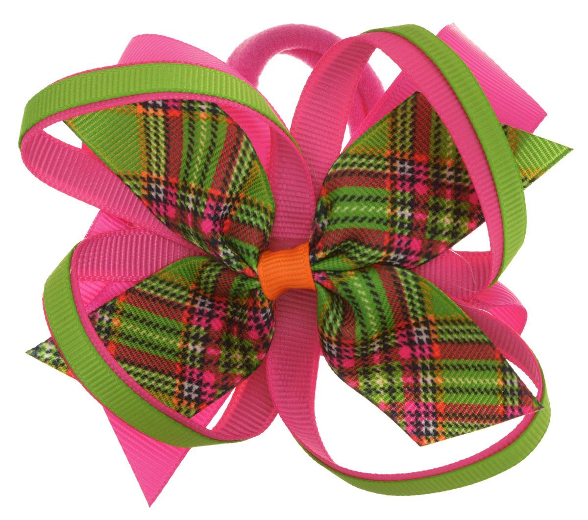 Baby's Joy Резинка для волос цвет малиновый салатовый AL 969