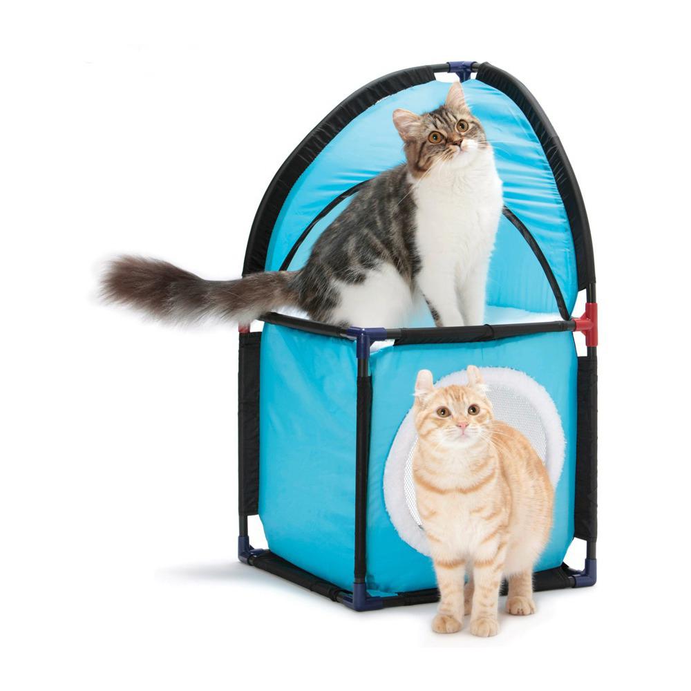 Домик для кошек SportPet Designs Место встречи, 36 х 36 х 71 см23052Домик для кошек SportPet Designs Место встречи обязательно понравится вашему пушистому питомцу. Прекрасно помещаясь в угол, он займет минимум пространства в вашей квартире. Двухэтажная конструкция позволяет удобно разместиться двум кошкам, не стесняя друг друга. Домик изготовлен из высокопрочных, устойчивых к повреждениям материалов. Каркас из пластиковых трубок удобно собирается и разбирается, облегчая транспортировку и хранение. Каркас обтянут прочным износостойким текстилем. Мягкая платформа, покрытая овчиной, обеспечивает дополнительный комфорт кошке. Домик прекрасно подходит для использования изолированно и в совокупности с игровыми комплексами.