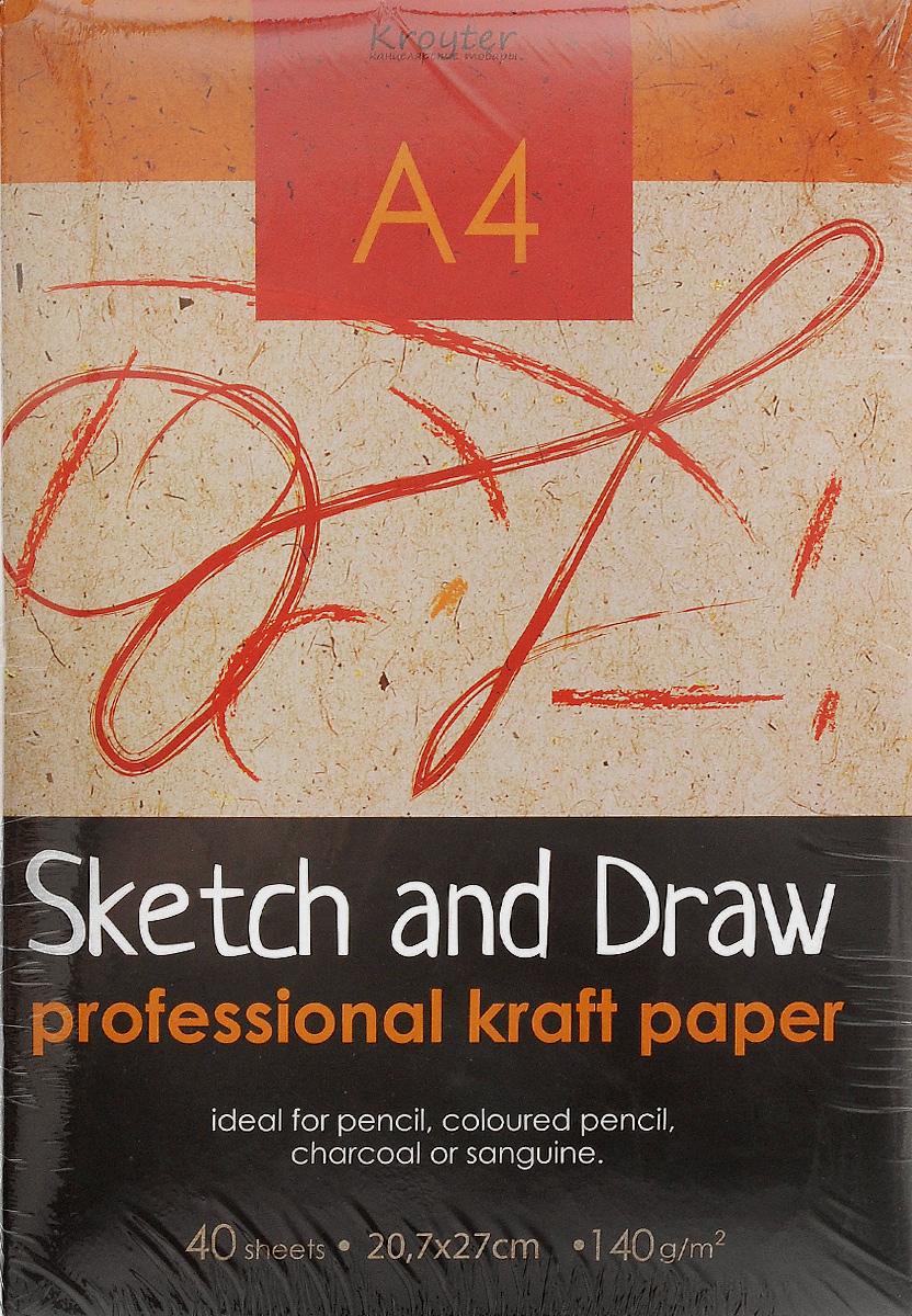 Папка для рисования и эскизов Kroyter, 40 листов, формат А405572Папка Kroyter предназначена для эскизов и рисования. Содержит 40 листов бумаги, которые идеально подходит для работ карандашами, пастелью, углем. Обложка - высококачественный мелованный картон. Использованные листы удобно хранить в папке.