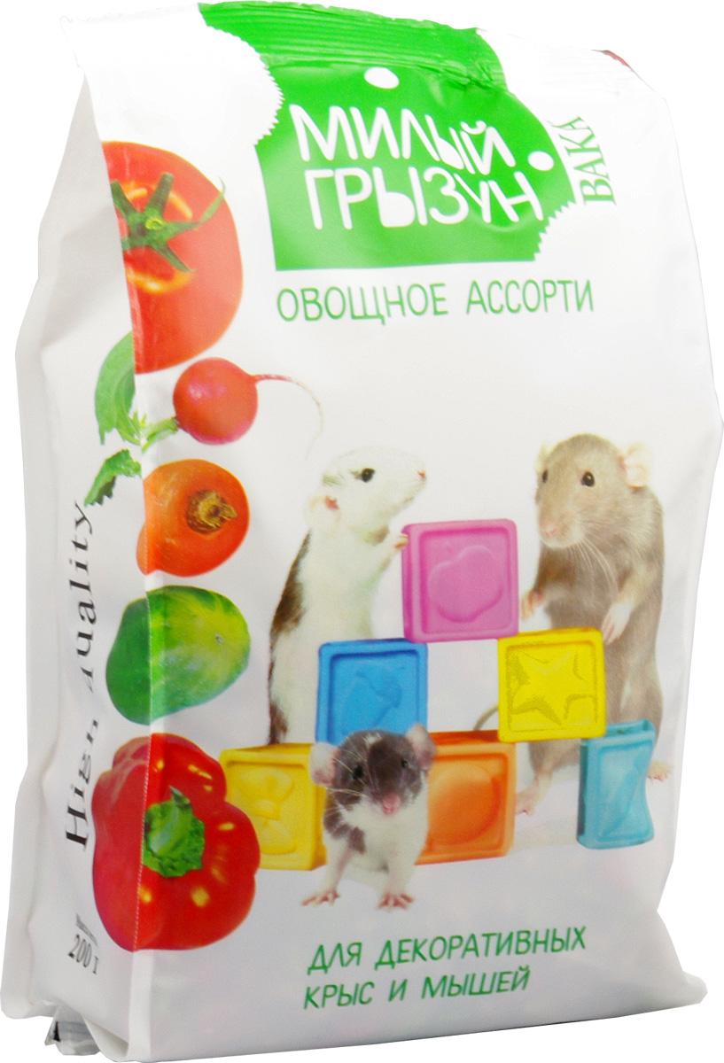 Вака High Quality Милый грызун овощное ассорти для декоративных крыс и мышей, 200 г70785