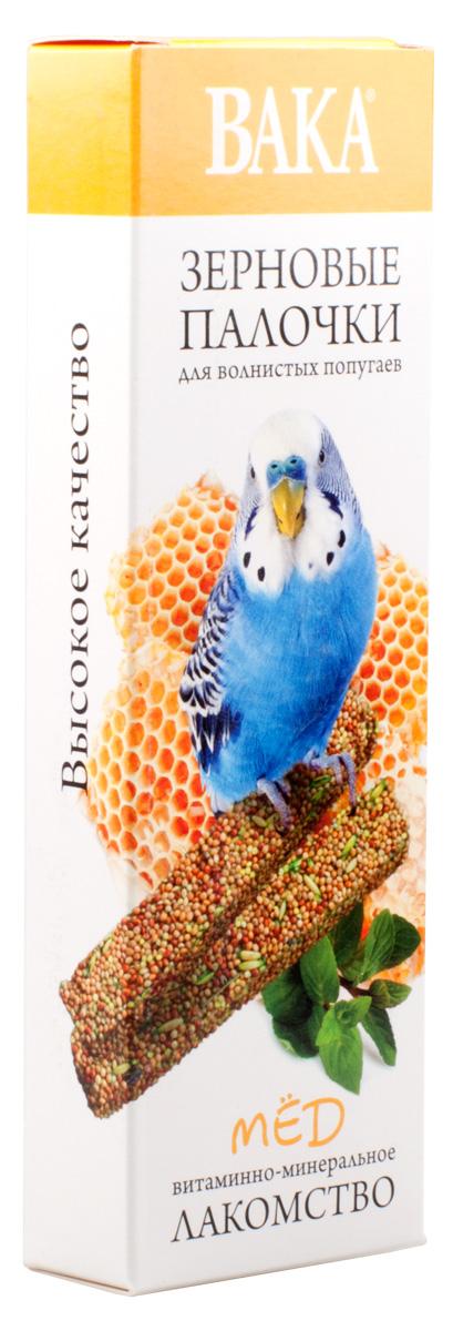 Зерновые палочки Вака для волнистых попугаев, мед, 2 шт79575