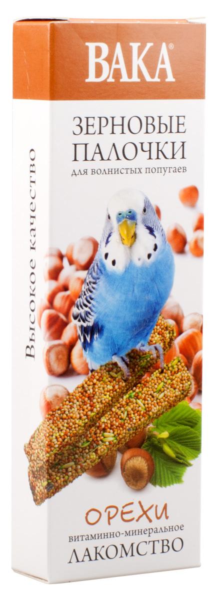 Зерновые палочки Вака для волнистых попугаев, орехи, 2 шт79576