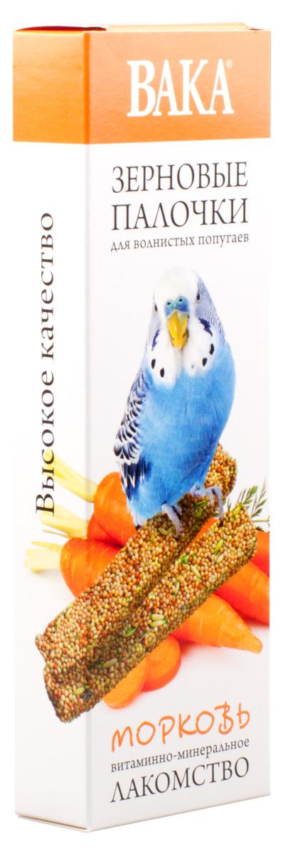 Зерновые палочки Вака для волнистых попугаев, морковь, 2 шт79579