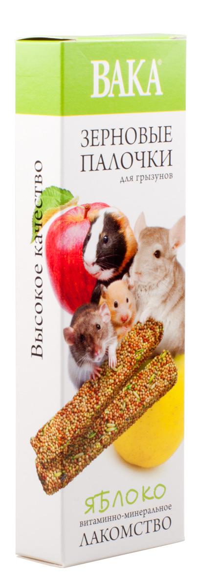 Зерновые палочки Вака для грызунов, яблоко, 2 шт79582