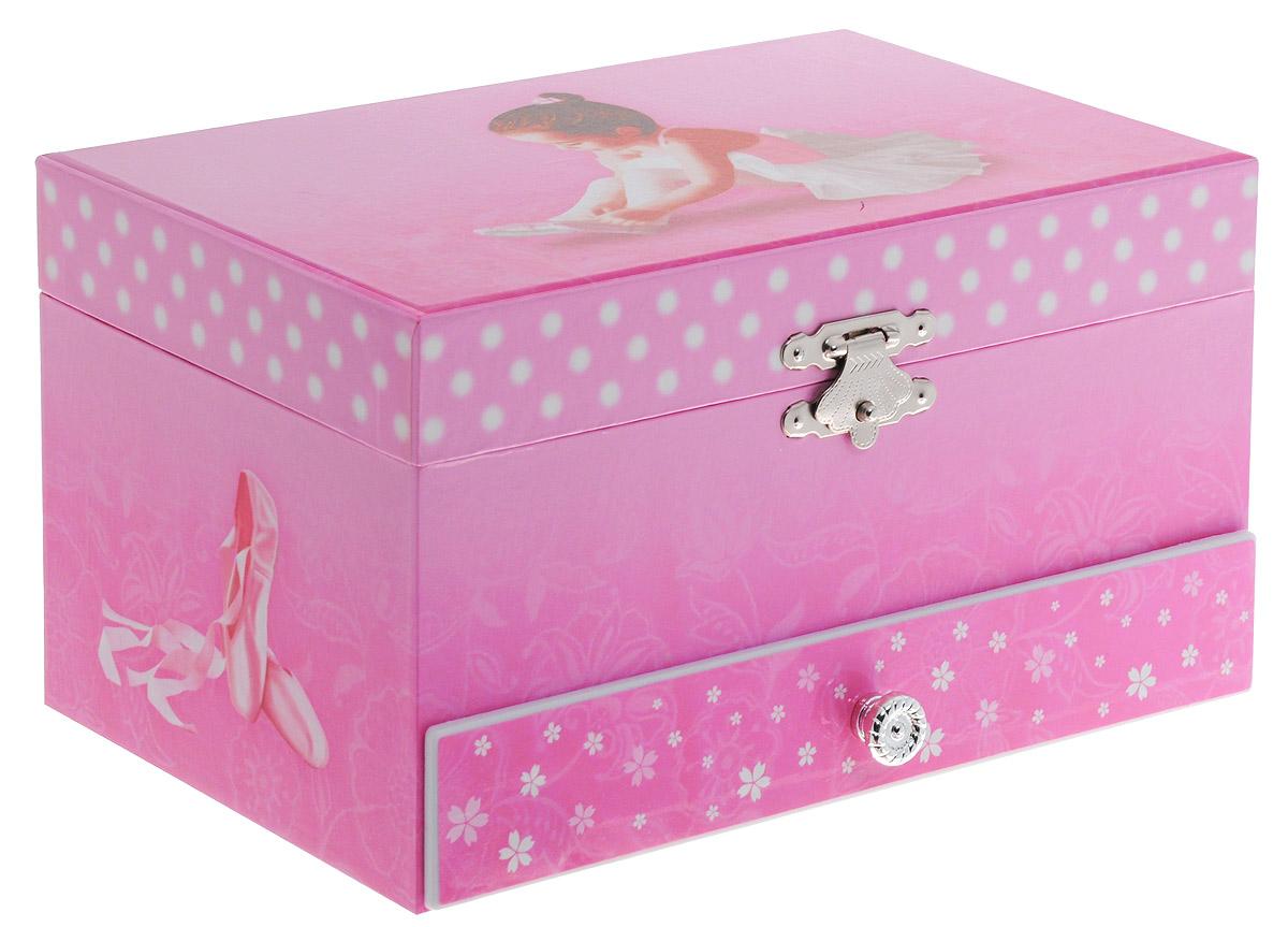 Музыкальная шкатулка Jakos Балерина, цвет: розовый. 60000_4