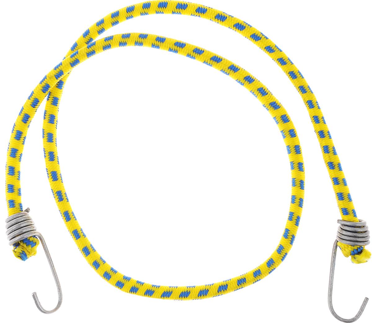Резинка багажная МастерПроф, с крючками, цвет: желтый, синий, 0,10 х 110 см. АС.020023АС.020023_желтыйБагажная резинка МастерПроф, выполненная из синтетического каучука, оснащена специальными металлическими крюками, которые обеспечивают прочное крепление и не допускают смещения груза во время его перевозки. Применяется для закрепления предметов к багажнику. Такая резинка позволит зафиксировать как небольшой груз, так и довольно габаритный. Материал: синтетический каучук. Температура использования: -15°C до +50°C. Безопасное удлинение: 60%. Диаметр резинки: 0,10 см. Длина резинки: 110 см.