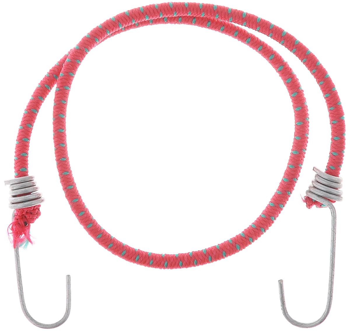 Резинка багажная МастерПроф, с крючками, цвет: красный, зеленый, 0,6 х 80 см. АС.020021АС.020021_красныйБагажная резинка МастерПроф, выполненная из синтетического каучука, оснащена специальными металлическими крючками, которые обеспечивают прочное крепление и не допускают смещения груза во время его перевозки. Изделие применяется для закрепления предметов к багажнику. Такая резинка позволит зафиксировать как небольшой груз, так и довольно габаритный. Материал: синтетический каучук. Температура использования: -15°C до +50°C. Безопасное удлинение: 60%. Диаметр резинки: 0,6 см. Длина резинки: 80 см.