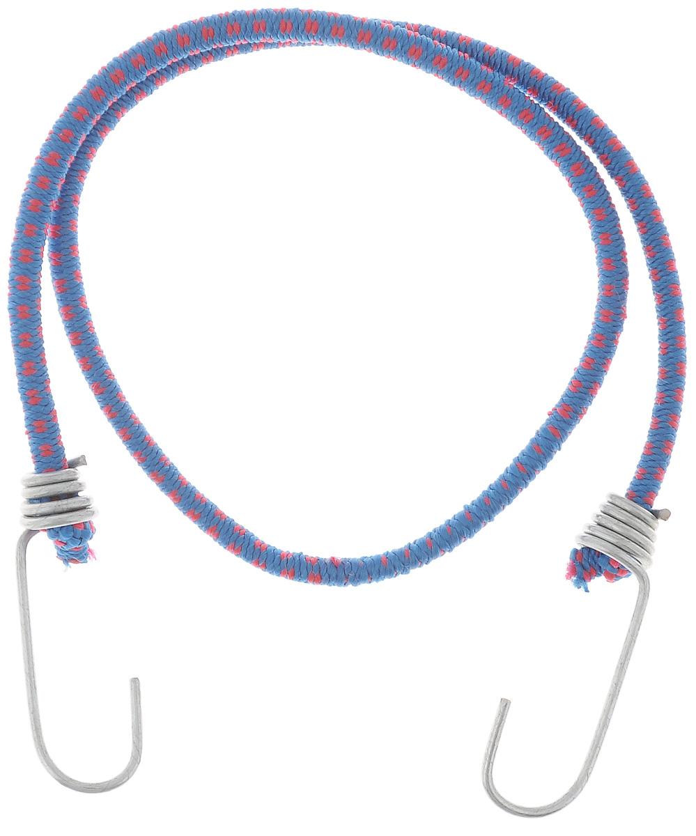 Резинка багажная МастерПроф, с крючками, цвет: синий, красный, 0,6 х 80 см. АС.020021АС.020021_синийБагажная резинка МастерПроф, выполненная из синтетического каучука, оснащена специальными металлическими крючками, которые обеспечивают прочное крепление и не допускают смещения груза во время его перевозки. Изделие применяется для закрепления предметов к багажнику. Такая резинка позволит зафиксировать как небольшой груз, так и довольно габаритный. Материал: синтетический каучук. Температура использования: -15°C до +50°C. Безопасное удлинение: 60%. Диаметр резинки: 0,6 см. Длина резинки: 80 см.