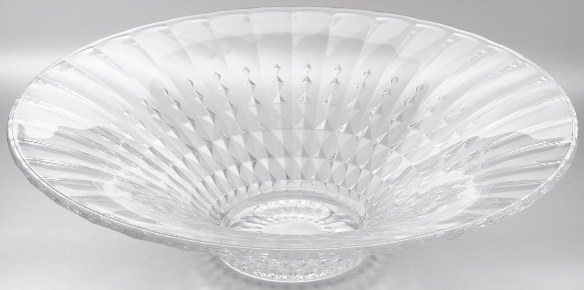 Салатник Cristal dArques Lady Diamond, диаметр 35 смG5231Салатник Cristal dArques Lady Diamond изготовлен из из специально разработанного стекла Diamax и выполнен в форме большой чаши, декорирован рельефом в полоску. Данный салатник сочетает в себе изысканный дизайн с максимальной функциональностью. Он прекрасно впишется в интерьер вашей кухни и станет достойным дополнением к кухонному инвентарю. Такой салатник не только украсит ваш кухонный стол и подчеркнет прекрасный вкус хозяйки, но и станет отличным подарком. Диаметр: 35 см. Высота: 9 см. Диаметр дна: 10 см.