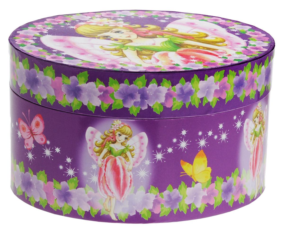 Музыкальная шкатулка фея с цветком, цвет фиолетовый с цветами615000Чудесная музыкальная шкатулка Овал станет великолепным подарком, а ее сказочный мотив создаст поистине волшебное настроение. Выполненная из дерева, овальной формы, с глянцевым бумажным покрытием, шкатулка оформлена изображением прекрасной балерины. Внутри шкатулки одно отделение для хранения разнообразных вещиц, небольшое зеркальце и фигурка балерины, которая при открывании крышки начинает плавно кружиться и играет приятная мелодия. Шкатулка снабжена металлическим механическим заводом, внутренняя поверхность отделана нежным бархатистым материалом.