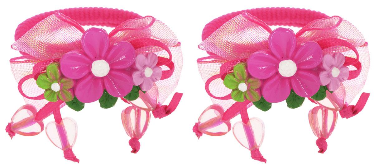 Baby's Joy Резинка для волос Цветы цвет малиновый 2 шт