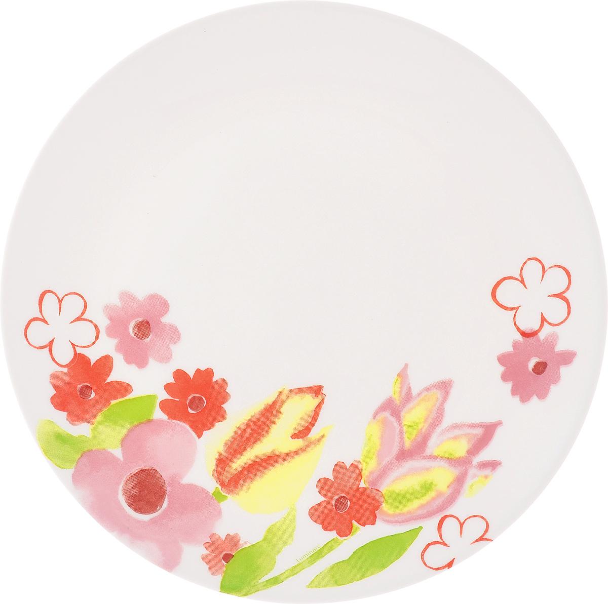 Тарелка десертная Luminarc Dacha, 19 смH8669Десертная тарелка Luminarc Dacha, изготовленная из ударопрочного стекла, имеет изысканный внешний вид. Такая тарелка прекрасно подходит как для торжественных случаев, так и для повседневного использования. Идеальна для подачи десертов, пирожных, тортов и многого другого. Она прекрасно оформит стол и станет отличным дополнением к вашей коллекции кухонной посуды. Диаметр тарелки (по верхнему краю): 19 см.