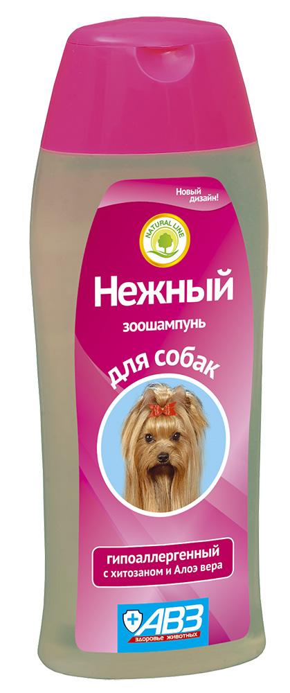 Шампунь НЕЖНЫЙ гипоалергенный для собак с хитозаном и алоэ Вера, 270 мл АВЗ
