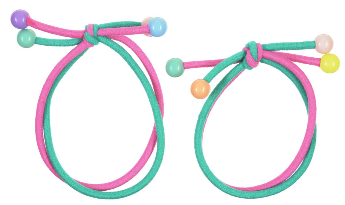 Baby's Joy Резинка для волос цвет розовый зеленый 2 шт AL 961