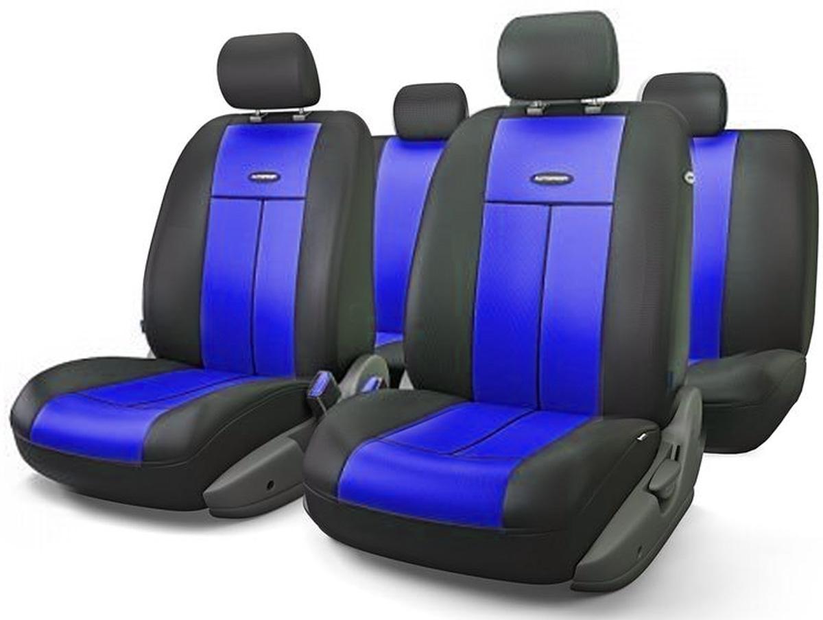 Авточехлы Autoprofi TT, цвет: черный, синий, 9 предметов. TT-902P BK/BLTT-902P BK/BLАвтомобильные чехлы Autoprofi TT изготавливаются из высококачественного полиэстера со вставками из поролона, обеспечивающего сцепление с сиденьем. Мягкие чехлы являются отличным дополнением салона любого автомобиля. Изделия придают автомобильному интерьеру современные и солидные черты. Универсальная конструкция подходит для большинства автомобильных сидений. Подходят для автомобилей с боковыми подушками безопасности (распускаемый шов). Специальные молнии, расположенные в чехлах спинки заднего ряда, позволяют использовать чехлы на автомобилях с различными пропорциями складывания заднего ряда. Комплектация: 5 подголовников, 2 чехла сидений переднего ряда, 1 спинка заднего ряда, 1 сиденье заднего ряда.