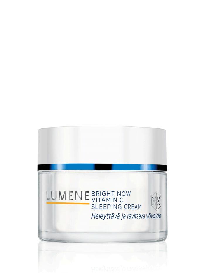 LUMENE Ночной крем-сон Bright Now Vitamin C, 50 млNL574-80197Ночной крем-сон Lumene Bright Now Vitamin C. Это больше, чем обычный ночной крем. Обогащенный антиоксидантами и витаминами А, С и Е, он помогает за ночь восстановить и оживить уставшую и тусклую кожу. Благодаря сочетанию гиалуроновой кислоты и молекулярной пленки удерживает влагу в коже, глубоко питает и придает сияние, избавляя от следов усталости и мелких морщинок.