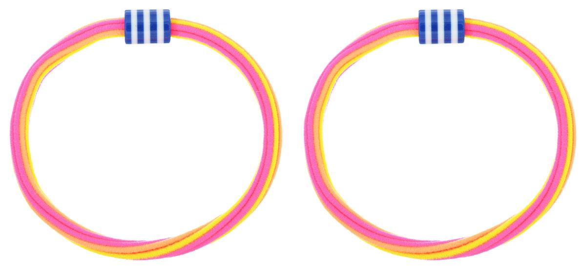 Baby's Joy Резинка для волос цвет оранжевый желтый розовый 2 шт VT 175