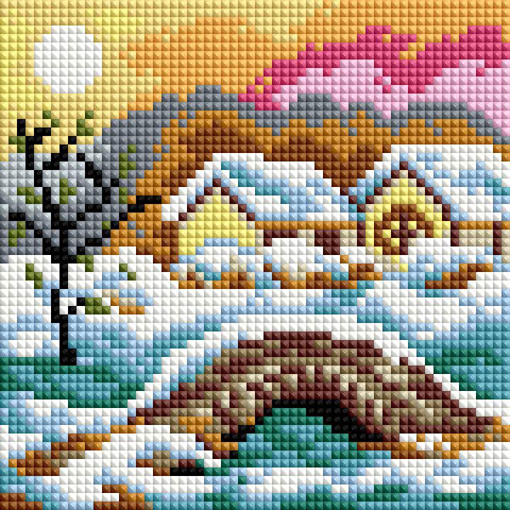 Набор для создания мозаики Белоснежка Зимний день127-ST-РS