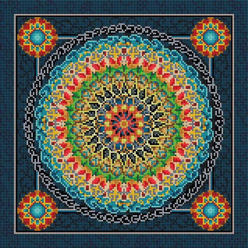 """Набор для создания мозаики Белоснежка Сила духа298-ST-Sнабора для творчества """"Алмазная мозаика Основа мозаичной картины - холст на подрамнике усиленный листом оргалита. тип камней: квадратные 2,5*2,5 мм. Количество цветов: 29. 100 % заполнение. Размер готовой работы: 40*40 см."""