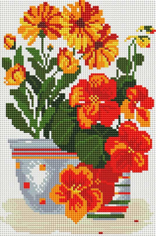 """Набор для создания мозаики Белоснежка Солнечные цветы315-ST-Sнабора для творчества """"Алмазная мозаика Основа мозаичной картины - холст на подрамнике усиленный листом оргалита. тип камней: квадратные 2,5*2,5 мм. Количество цветов: 13. 100 % заполнение. Размер готовой работы: 20*30 см."""