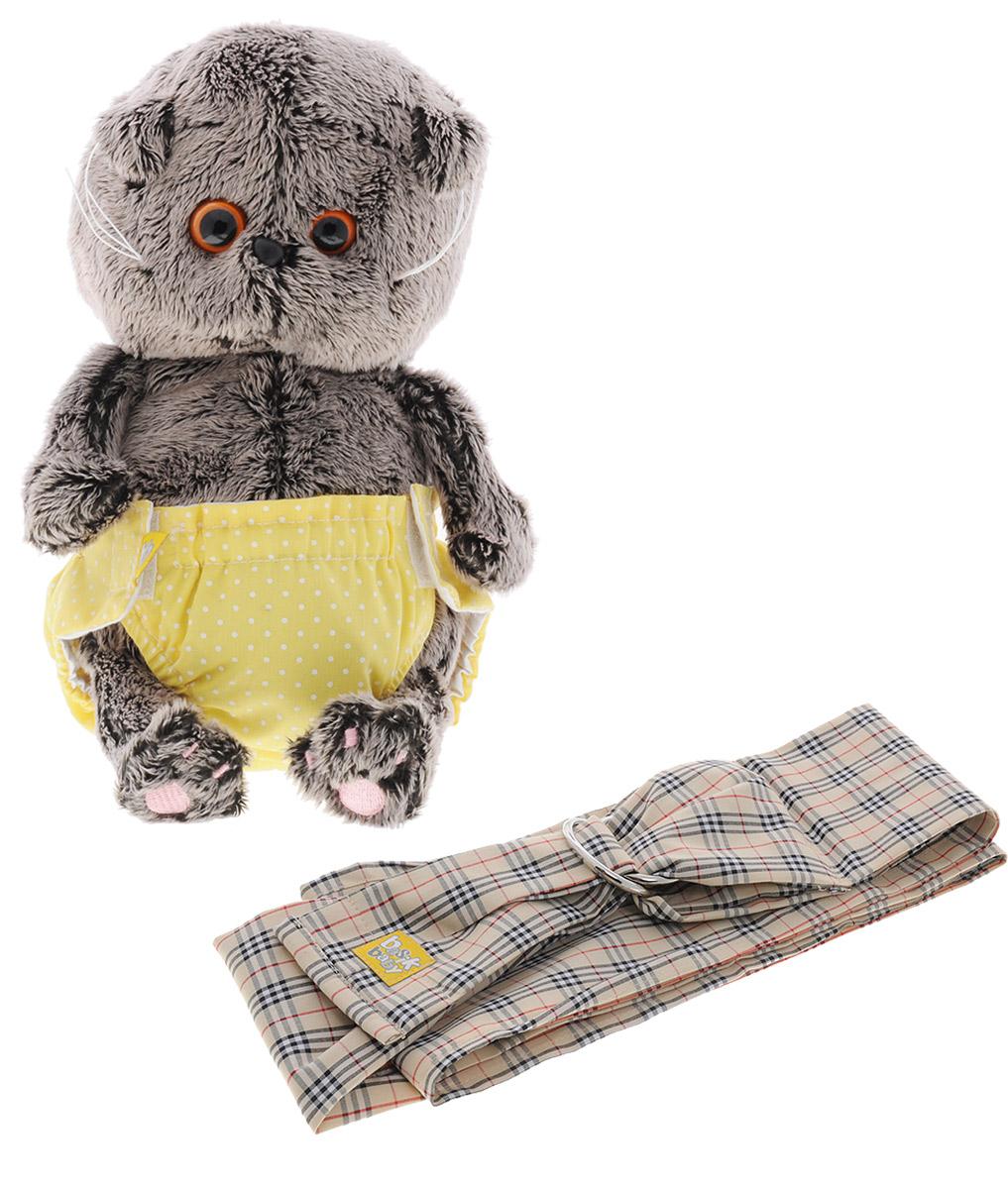 Мягкая игрушка Басик Baby со слингом 20 смBB-005Мягкая игрушка Басик Baby подарит малышу немало прекрасных мгновений. Дети очень трепетно относятся к домашним животным, особенно они любят котов и собак и часто просят своих родителей приобрести им такого друга. Однако домашние питомцы не всегда хорошо влияют на детей - они могут поцарапать и даже вызвать аллергическую реакцию, поэтому приходят на помощь мягкие игрушки, очень похожие на настоящих питомцев. С этим шотландским вислоухим котиком можно играть, отдыхать и засыпать в обнимку, рассказывая свои секреты. У него густая плюшевая шерстка, которую так приятно гладить. У Басика круглые медовые глазки, маленькие ушки и черный носик. Кот в трусиках- памперсах на липучках. Трусики выполнены из ткани нежного желтого цвета в горошек. В комплекте имеется слинг. Мягкие игрушки очень полезны для малышей, потому что весьма позитивно влияют на детскую нервную систему, прогоняя всевозможные страхи. Играя, малыш развивает фантазию и воображение,...