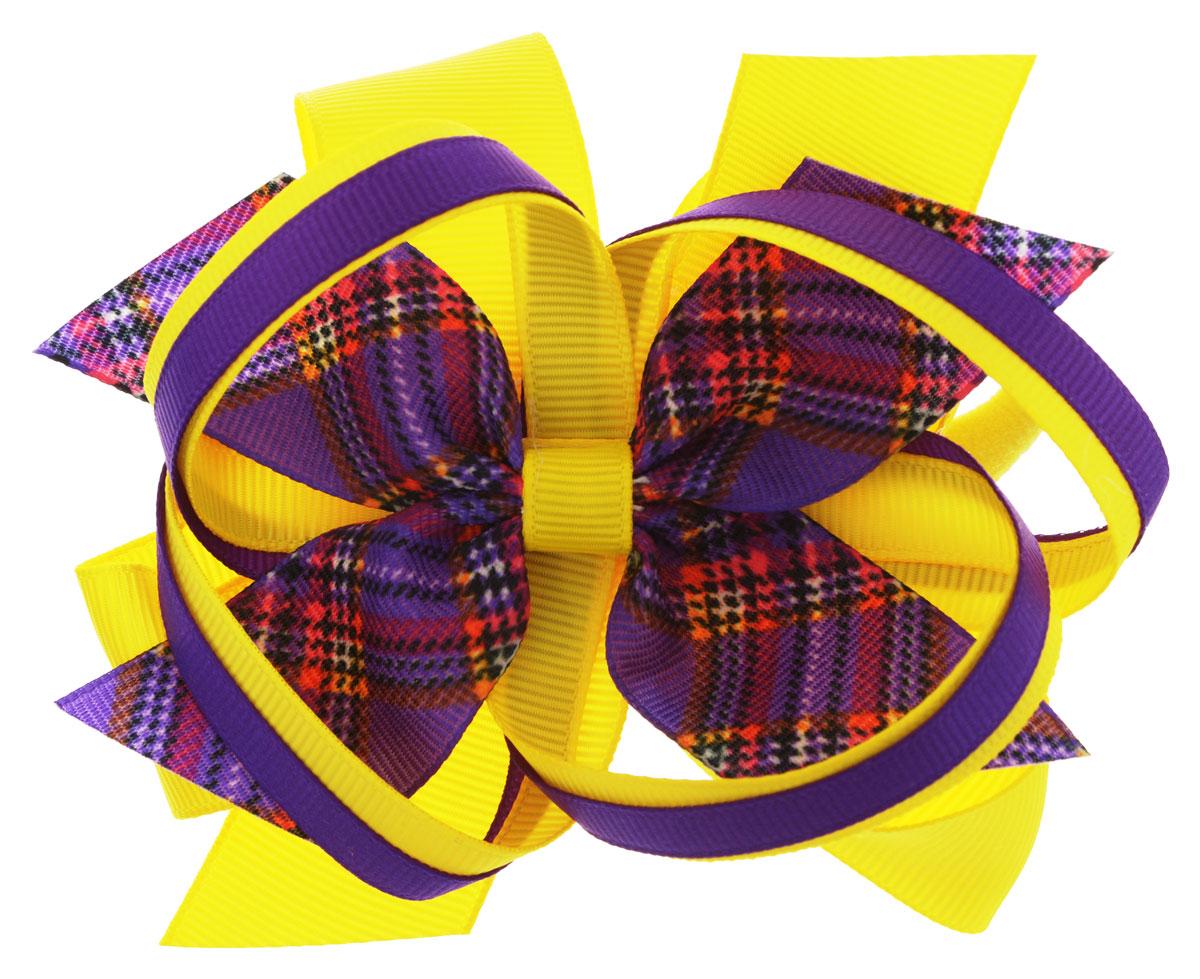 Baby's Joy Резинка для волос цвет желтый фиолетовый AL 969