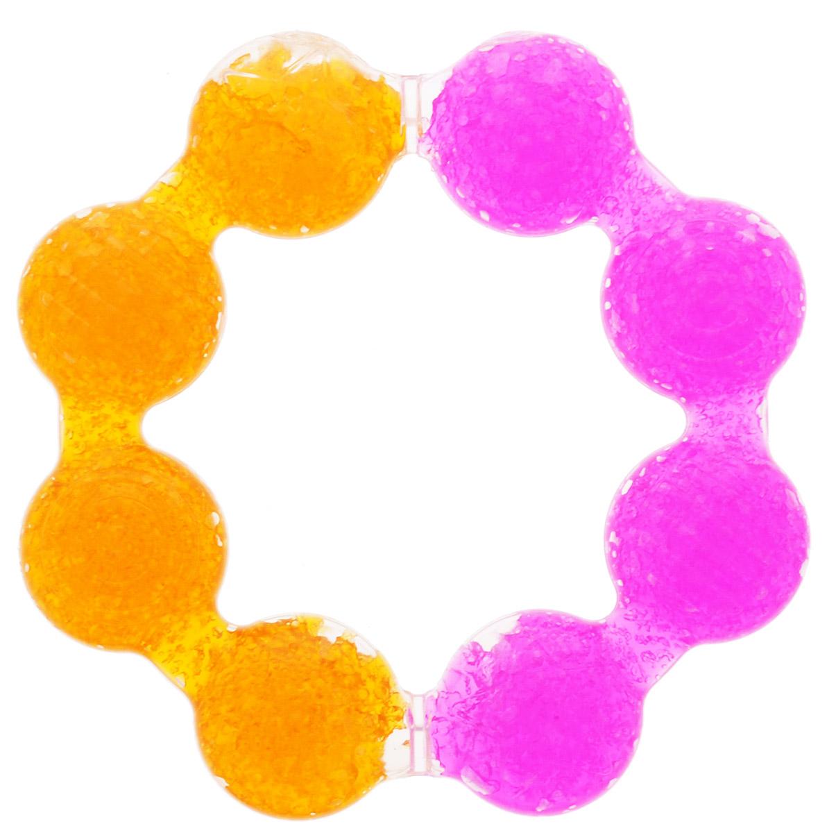 Munchkin Прорезыватель охлаждающий Цветок цвет розовый оранжевый11322_розовый, оранжевыйПрорезыватель охлаждающий Munchkin Цветок, изготовленный из прочного безопасного материала (не содержит бисфенол А), несомненно, понравится малышу. Благодаря тому, что прорезыватель наполнен гелем, в охлажденном состоянии он оказывает легкое анестезирующее действие, а поверхность прорезывателя мягко массирует десны малыша и уменьшает дискомфорт при появлении зубов. Форма прорезывателя в виде кольца удобна для маленьких детских ручек. Прорезыватель Munchkin Цветок развивает мелкую моторику, воображение, концентрацию внимания и цветовое восприятие ребенка.