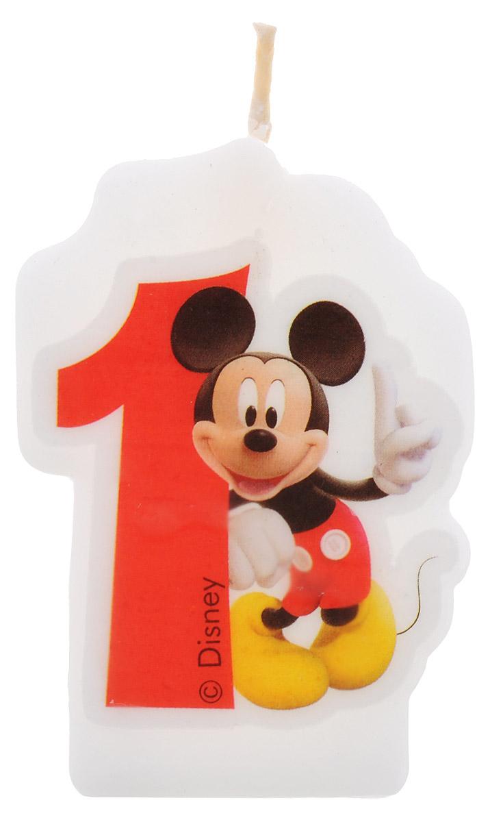 Procos Свеча-цифра для торта Микки Маус 1 год6141, 83149Праздничный торт - главный атрибут на любом дне рождения, особенно, если это детский день рождения. Чтобы сделать торт необычным, достаточно украсить его оригинальными свечами. Свеча-цифра для торта Procos Микки Маус подойдет как нельзя лучше для первого дня рождения вашего малыша! С помощью такой свечки вы порадуете вашего ребенка и сделаете праздник незабываемым.