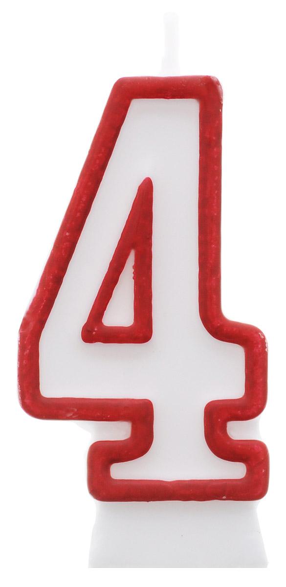 Susy Card Свеча-цифра для торта 4 года цвет красный1937457/11142353Свеча-цифра для торта Susy Card изготовлена из высококачественного парафина в виде цифры 4. Это отличное решение для декорирования торта к празднику. Ее можно комбинировать с другими цифрами. Изделие хорошо и долго горит. С этой свечой ваш праздник станет еще удивительнее и веселее.