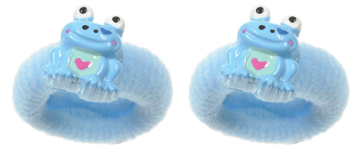 Baby's Joy Резинка для волос Лягушка цвет голубой 2 шт