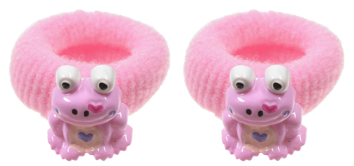 Baby\'s Joy Резинка для волос Лягушка цвет розовый 2 шт ( VT 75_розовый )