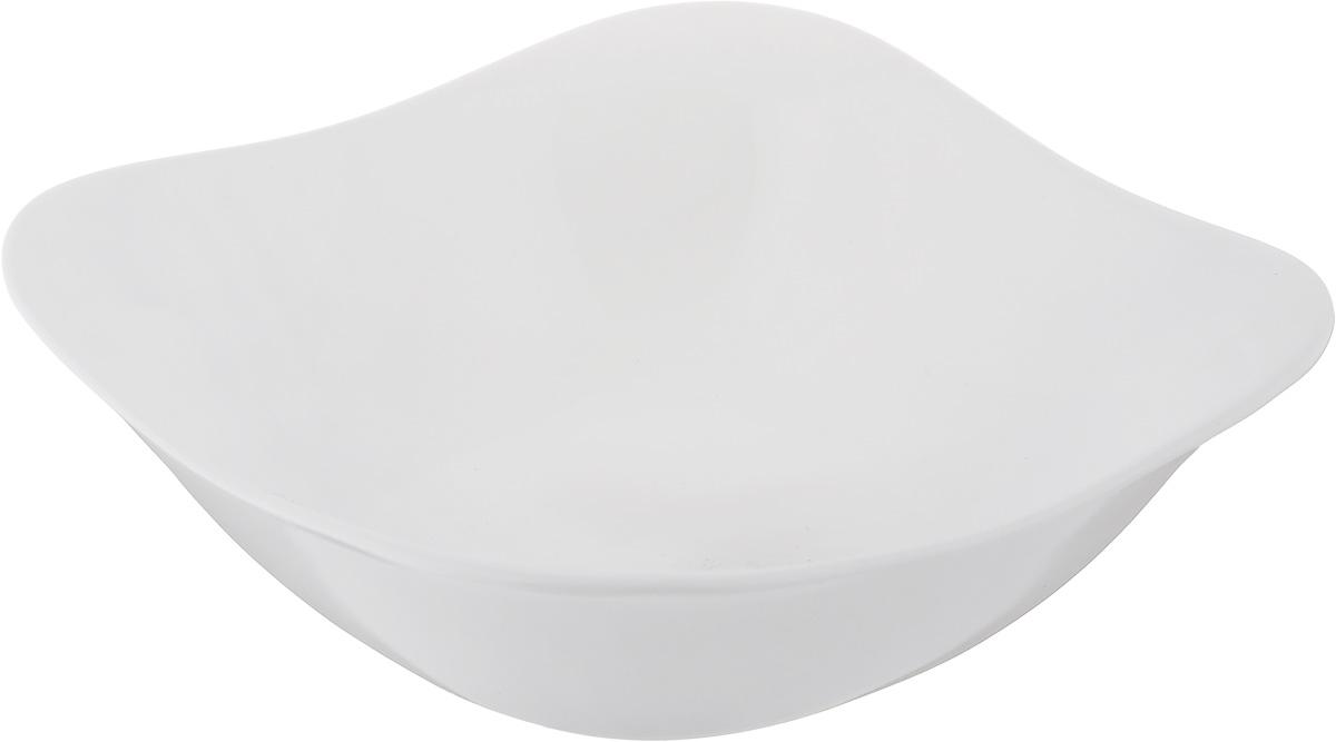 Салатник Luminarc Squera, 14 х 14 смH1793Элегантный салатник Luminarc Squera, изготовленный из ударопрочного стекла, прекрасно подойдет для подачи различных блюд: закусок, салатов или фруктов. Такой салатник украсит ваш праздничный или обеденный стол, а оригинальное исполнение понравится любой хозяйке. Размер салатника (по верхнему краю): 14 х 14 см. Высота салатника: 4,5 см.