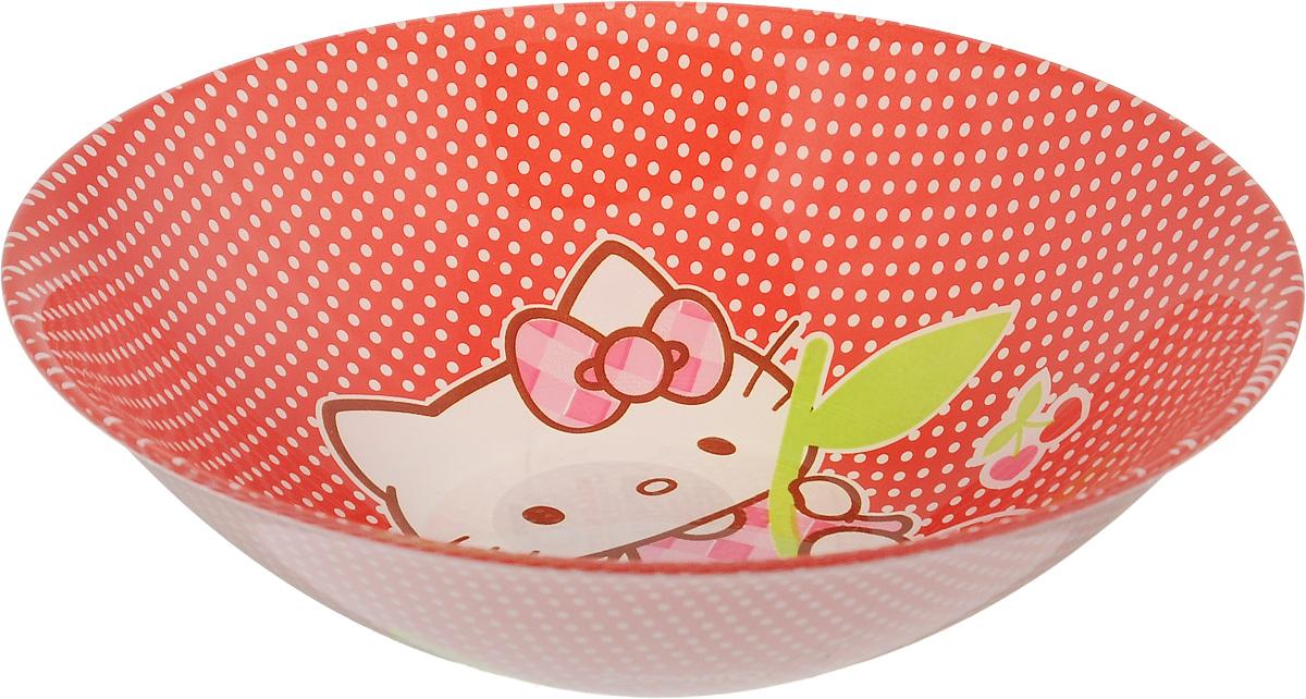 Салатник Luminarc Hello Kitty Cherries, диаметр 16,5 смJ0024Великолепный круглый салатник Luminarc Hello Kitty Cherries, изготовленный из ударопрочного стекла, прекрасно подойдет для подачи различных блюд: закусок, салатов или фруктов. Такой салатник украсит ваш праздничный или обеденный стол, а оригинальное исполнение понравится любой хозяйке. Диаметр салатника (по верхнему краю): 16,5 см.