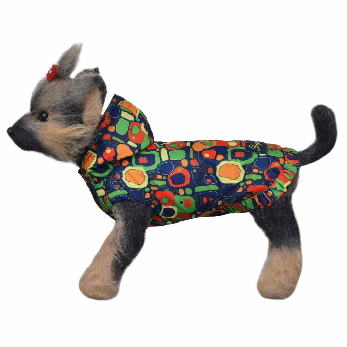 Dogmoda Ветровка для собак Сити-4DM-160108-4Яркая, модная куртка для собаки. Выполнена из непромокаемой ткани, на хлопковой подкладке