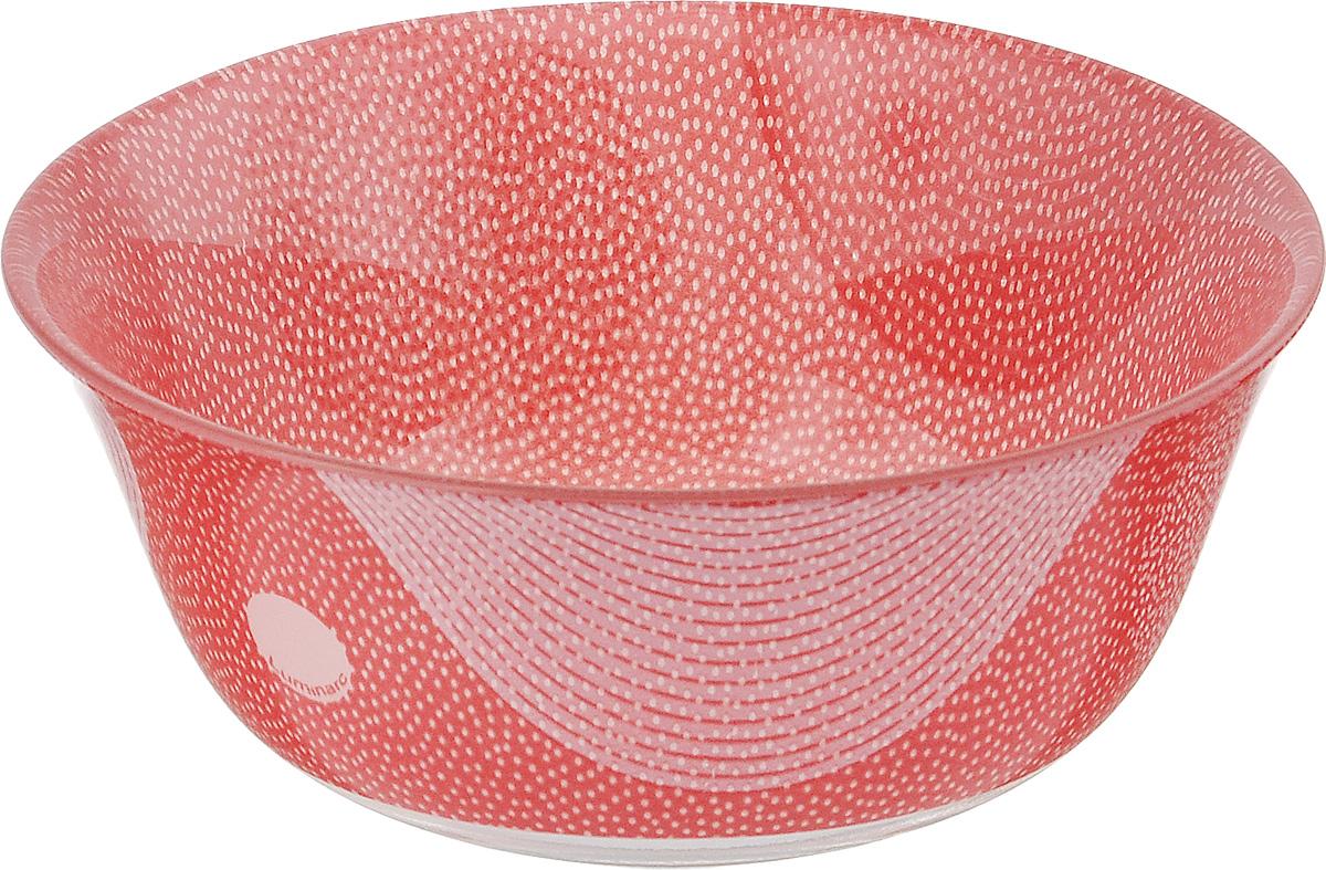 Салатник Luminarc Constellation Red, диаметр 12 смG7802Великолепный круглый салатник Luminarc Constellation Red, изготовленный из ударопрочного стекла, прекрасно подойдет для подачи различных блюд: закусок, салатов или фруктов. Такой салатник украсит ваш праздничный или обеденный стол, а оригинальное исполнение понравится любой хозяйке. Диаметр салатника (по верхнему краю): 12 см.
