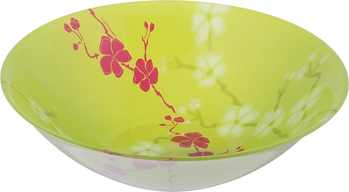 Салатник Luminarc Kashima Green, диаметр 16,5 смG9727Салатник Luminarc Kashima Green выполнен из ударопрочного стекла и имеет классическую круглую форму. Он прекрасно впишется в интерьер вашей кухни и станет достойным дополнением к кухонному инвентарю. Салатник Luminarc Kashima Green подчеркнет прекрасный вкус хозяйки и станет отличным подарком. Диаметр салатника (по верхнему краю): 16,5 см.