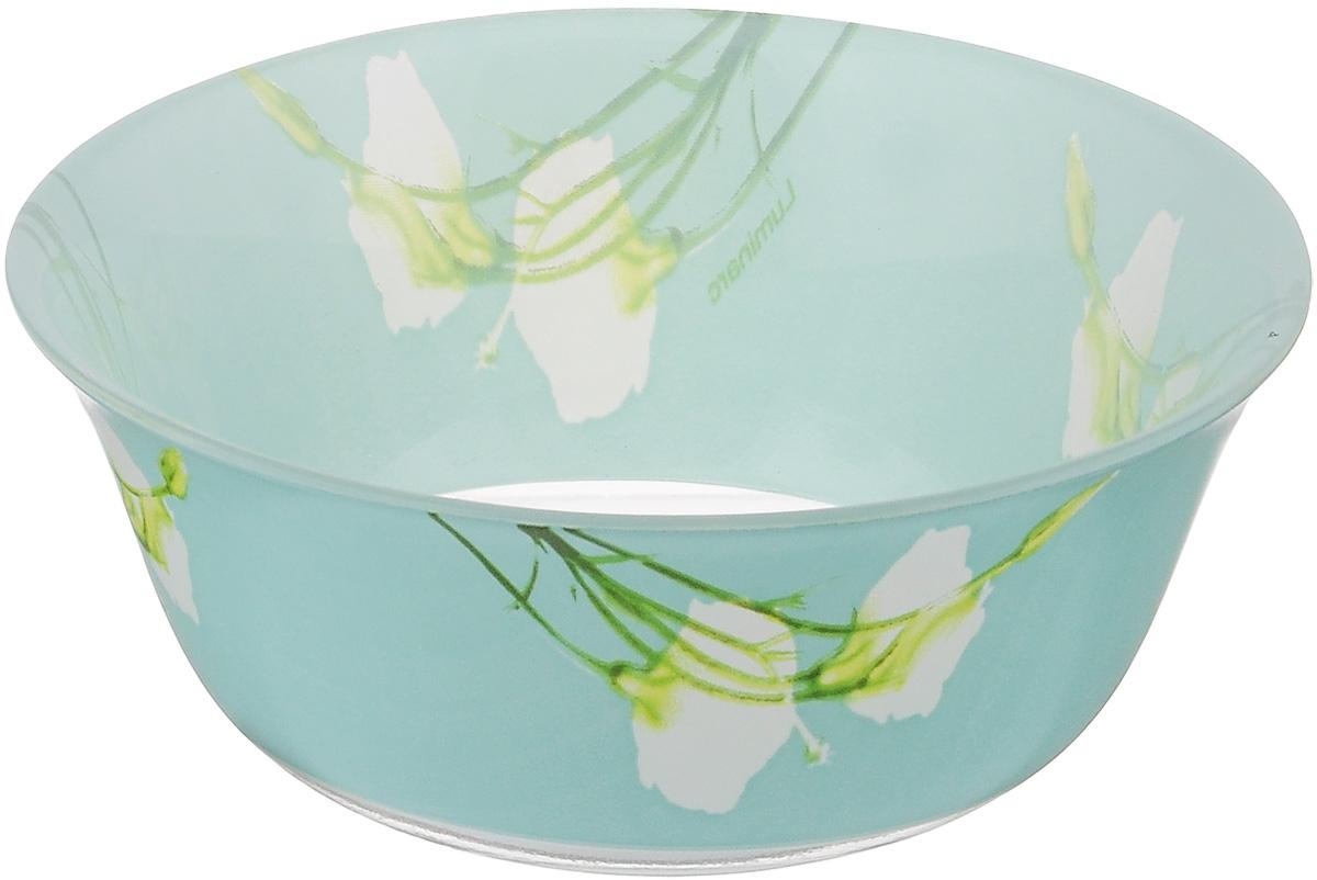 Салатник Luminarc Sofiane Blue, диаметр 12 смJ7806Великолепный круглый салатник Luminarc Sofiane Blue, изготовленный из ударопрочного стекла, прекрасно подойдет для подачи различных блюд: закусок, салатов или фруктов. Такой салатник украсит ваш праздничный или обеденный стол, а оригинальное исполнение понравится любой хозяйке. Диаметр салатника (по верхнему краю): 12 см.