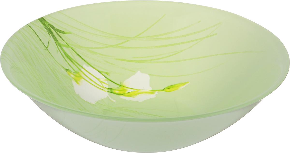 Салатник Luminarc Sofiane Green, диаметр 16,5 смJ7811Великолепный круглый салатник Luminarc Sofiane Green, изготовленный из ударопрочного стекла, прекрасно подойдет для подачи различных блюд: закусок, салатов или фруктов. Такой салатник украсит ваш праздничный или обеденный стол, а оригинальное исполнение понравится любой хозяйке. Диаметр салатника (по верхнему краю): 16,5 см.