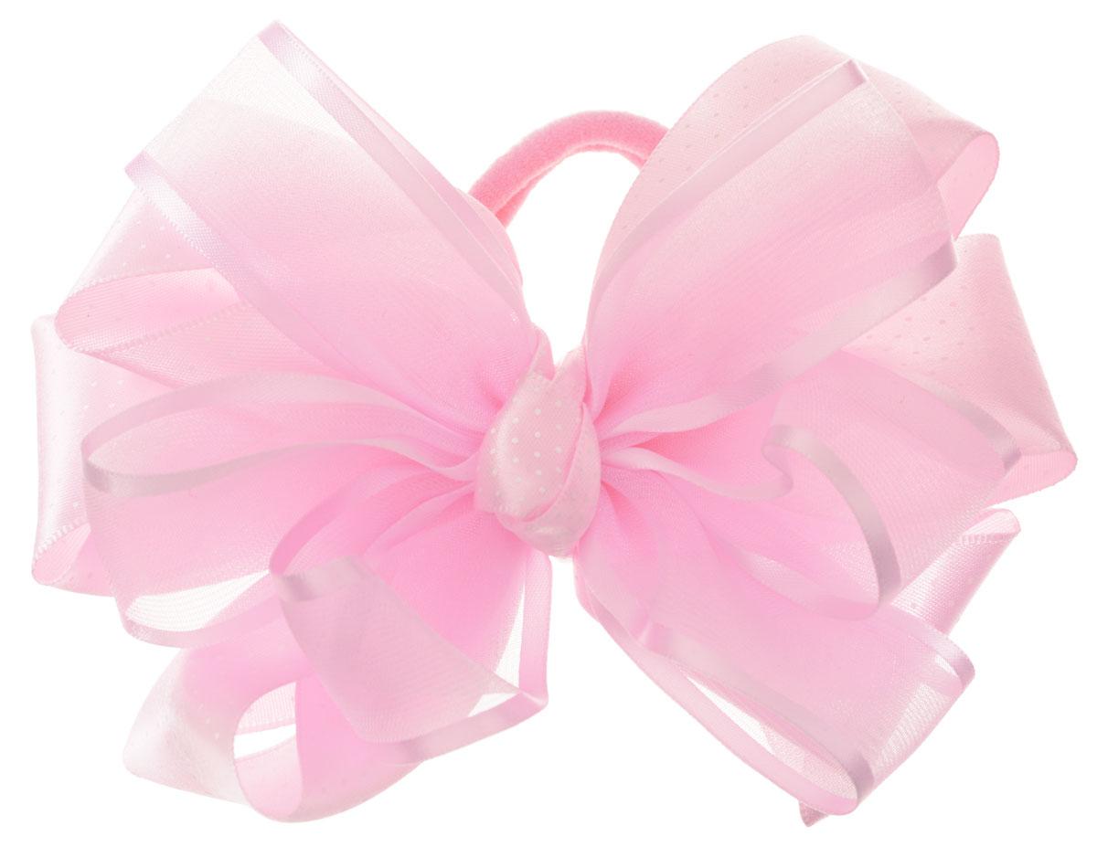 Babys Joy Бант для волос на резинке цвет розовыйK 10 _розовыйБант для волос на резинке Babys Joy состоит из большого двойного банта из атласа и капрона. Бант на резинке позволит не только убрать непослушные волосы с лица, но и придать образу романтичности и очарования. Такая резинка для волос подчеркнет уникальность вашей маленькой модницы и станет прекрасным дополнением к ее неповторимому стилю.