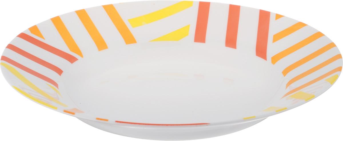 Тарелка глубокая Luminarc Balnea Sun, диаметр 22 смH8541Глубокая тарелка Luminarc Balnea Sun выполнена из ударопрочного стекла и имеет классическую круглую форму. Она прекрасно впишется в интерьер вашей кухни и станет достойным дополнением к кухонному инвентарю. Тарелка Luminarc Balnea Sun подчеркнет прекрасный вкус хозяйки и станет отличным подарком. Диаметр тарелки (по верхнему краю): 22 см.