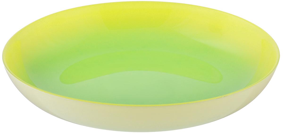 Тарелка глубокая Luminarc Fizz Mint, диаметр 20 смG9524Глубокая тарелка Luminarc Fizz Mint выполнена из ударопрочного стекла. Изделие сочетает в себе изысканный дизайн с максимальной функциональностью. Она прекрасно впишется в интерьер вашей кухни и станет достойным дополнением к кухонному инвентарю. Тарелка Luminarc Fizz Mint подчеркнет прекрасный вкус хозяйки и станет отличным подарком. Диаметр тарелки по верхнему краю: 20 см.