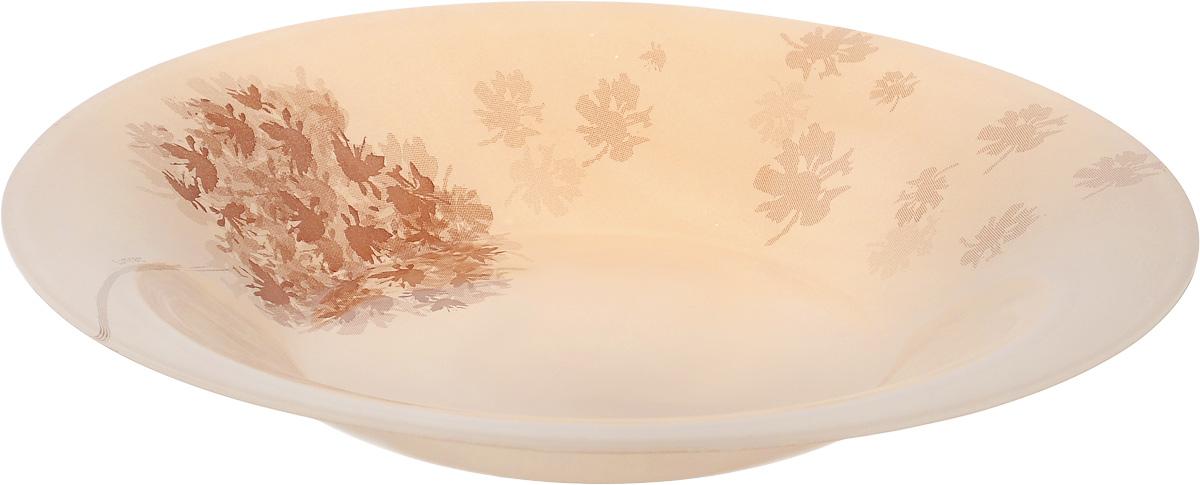 Тарелка глубокая Luminarc Stella Chocolat, диаметр 21,5 смJ1911Глубокая тарелка Luminarc Stella Chocolat выполнена из ударопрочного стекла и украшена изображением цветов. Изделие сочетает в себе изысканный дизайн с максимальной функциональностью. Она прекрасно впишется в интерьер вашей кухни и станет достойным дополнением к кухонному инвентарю. Тарелка Luminarc Stella Chocolat подчеркнет прекрасный вкус хозяйки и станет отличным подарком. Диаметр тарелки (по верхнему краю): 21,5 см.