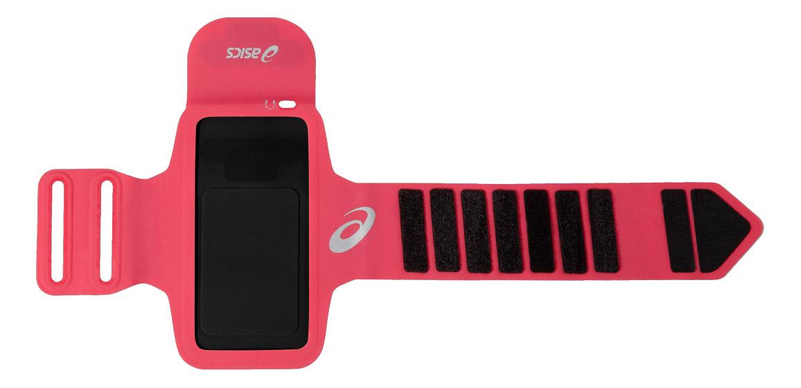 Сумка-чехол Asics, цвет: розовый. 127670-6016127670-6016Создайте идеальный плейлист для пробежки. Бегите, не расставаясь с любимыми песнями, благодаря легкому держателю для плеера, настолько комфортному, что вы забудете о том, что на вашей руке что-то надето. Регулируемый размер обеспечит комфортную посадку Светоотражающие детали гарантируют безопасность в темное время суток