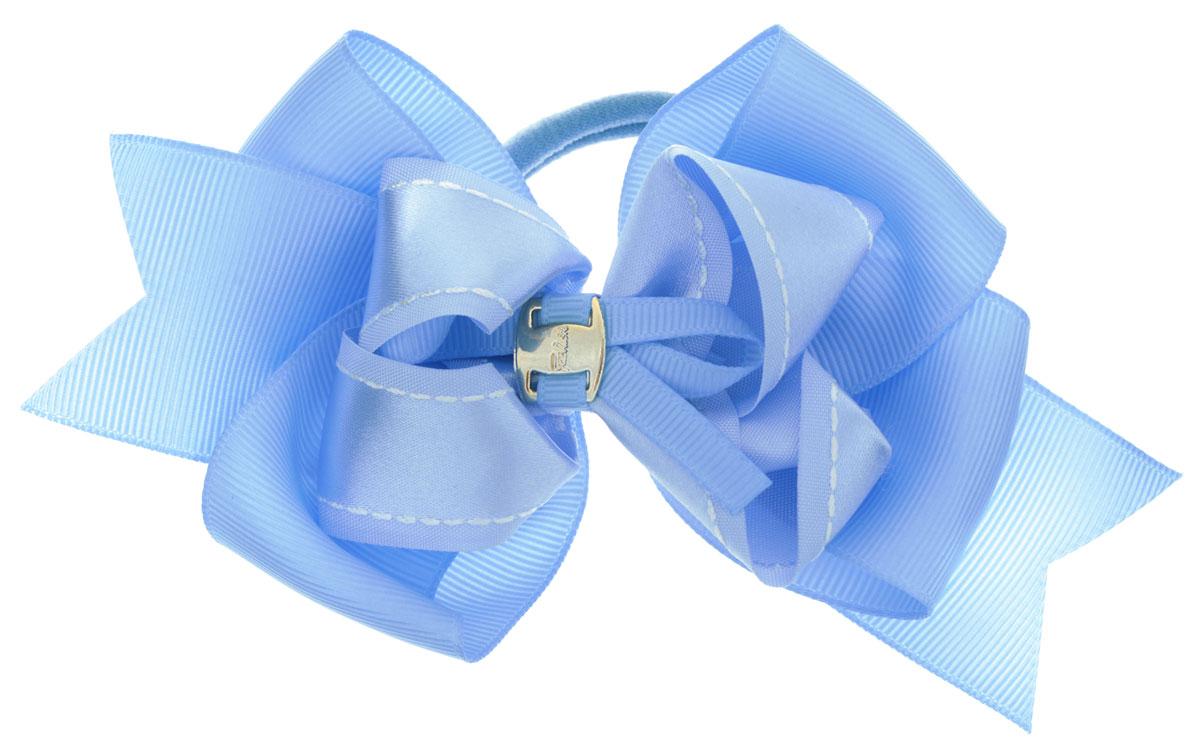 Baby's Joy Бант для волос с пряжкой на резинке цвет голубой