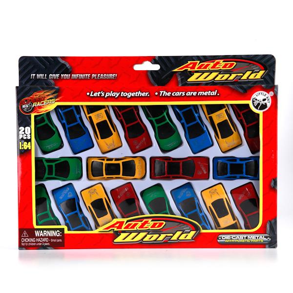Plastic Toy Набор из 20 машинок1403I057Набор из 20-ти разноцветных металлических машинок. Теперь у Вашего малыша будет целая коллекция сразу. Он сможет разыгрывать все возможные ситуации. Прочный безопасный материал. Развивает у ребенка фантазию.