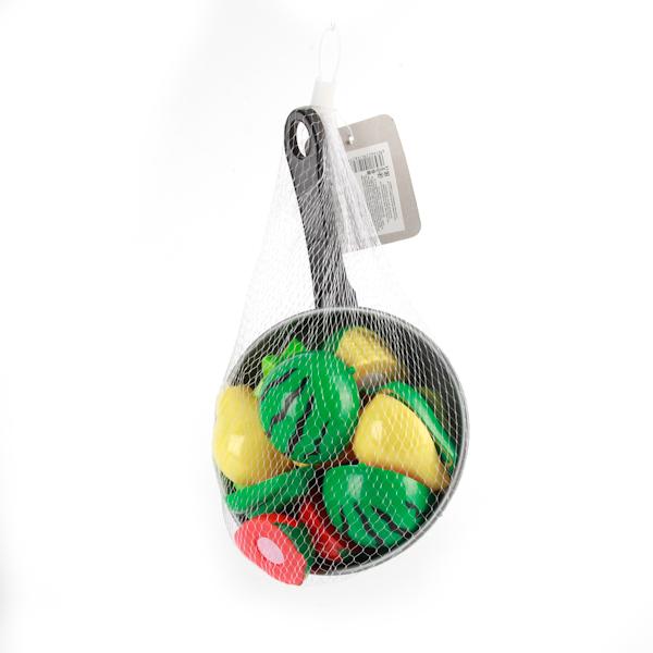Plastic Toy Сковорода с продуктами в сеткеB1256707Сковорода с продуктоми, поможет Вашей малышке приготовить праздничный или обычный обед и ужин. Сделал из безопасного пластика.