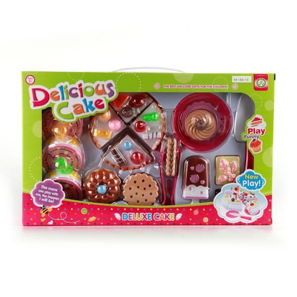 Plastic Toy Игровой набор тортиков 17 предметовC336-H38823Ваша малышка любит готовить и собирать гостей? Этот набор для нее! Он поможет создать праздничную обстановку, а так же порадовать всех своим ярким реалистичным видом.